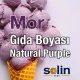 Mor Gıda Boyası Natural Purple